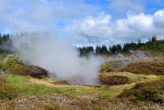 """Die so genannten """"Craters of the Moon"""" präsentieren sich auf Neuseelands Nordinsel mit zischenden Löchern und Schwefelgestank als hitzige Angelegenheit - © FRASHO / franks-travelbox"""