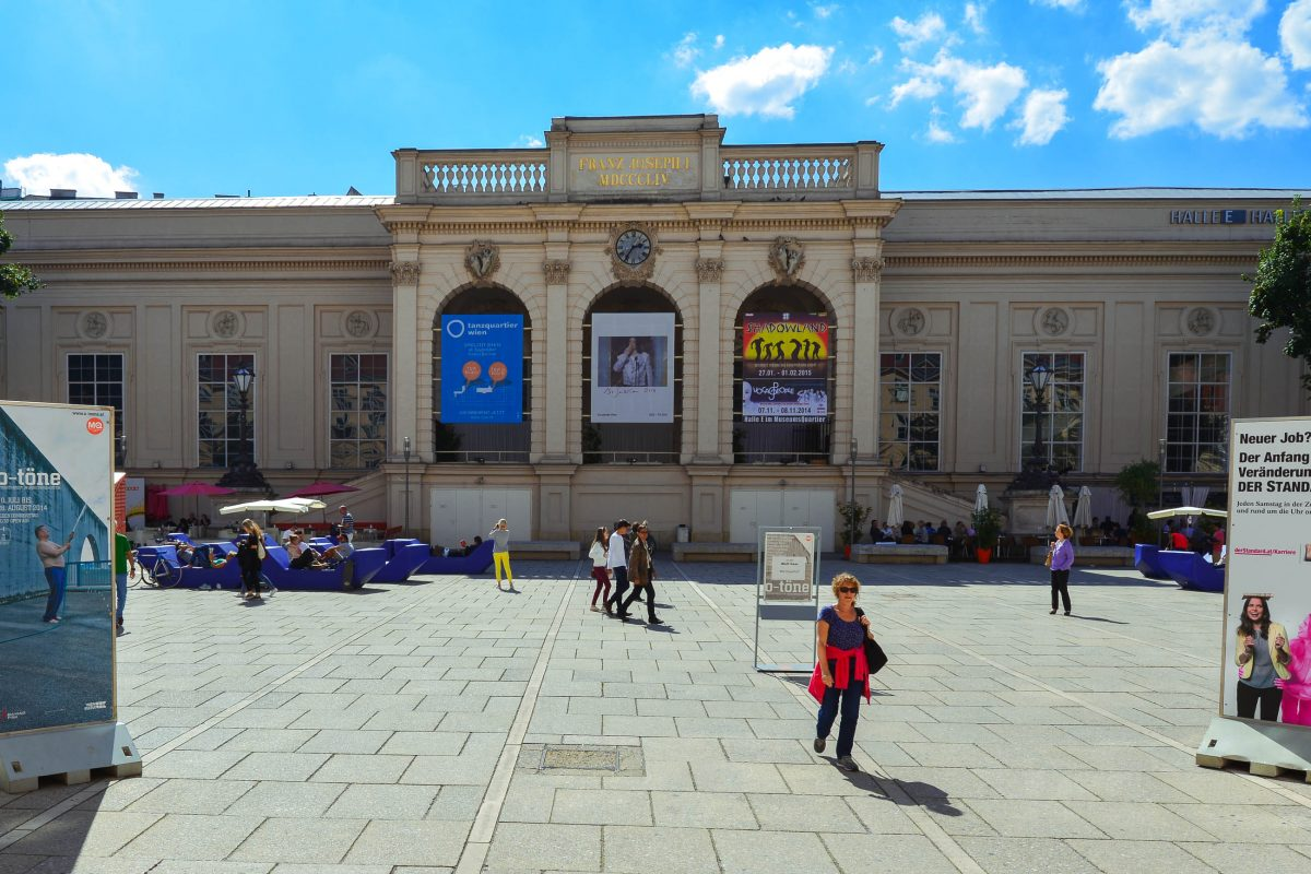 Blick auf die eindrucksvolle Kunsthalle Wien, die im Museumsquartier zwischen MUMOK und Leopold-Museum liegt und ihren Schwerpunkt auf zeitgenössischer Kunst hat, Österreich - © FRASHO / franks-travelbox