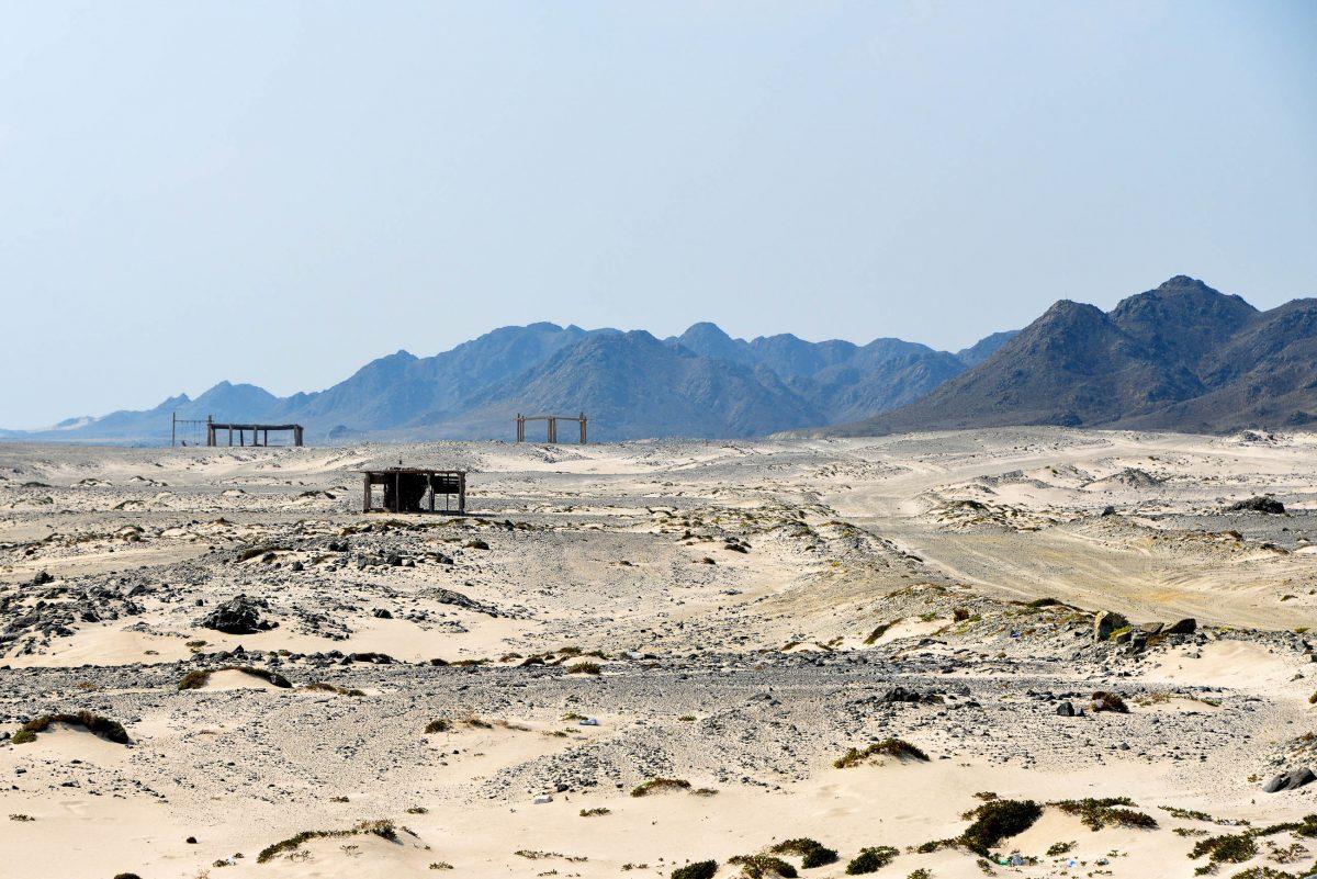 Die alte Piste die nur mit Allradfahrzeugen befahrbar war wurde mittlerweile durch eine Asphaltstraße ersetzt, Masirah, Oman - © FRASHO / franks-travelbox