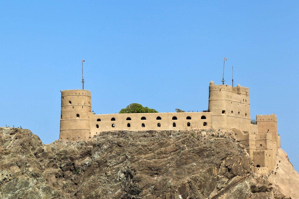 Die Festung Jalali ist die einzige Festung Muscats, die auch von innen besichtigt werden kann, Oman - © diak / Shutterstock
