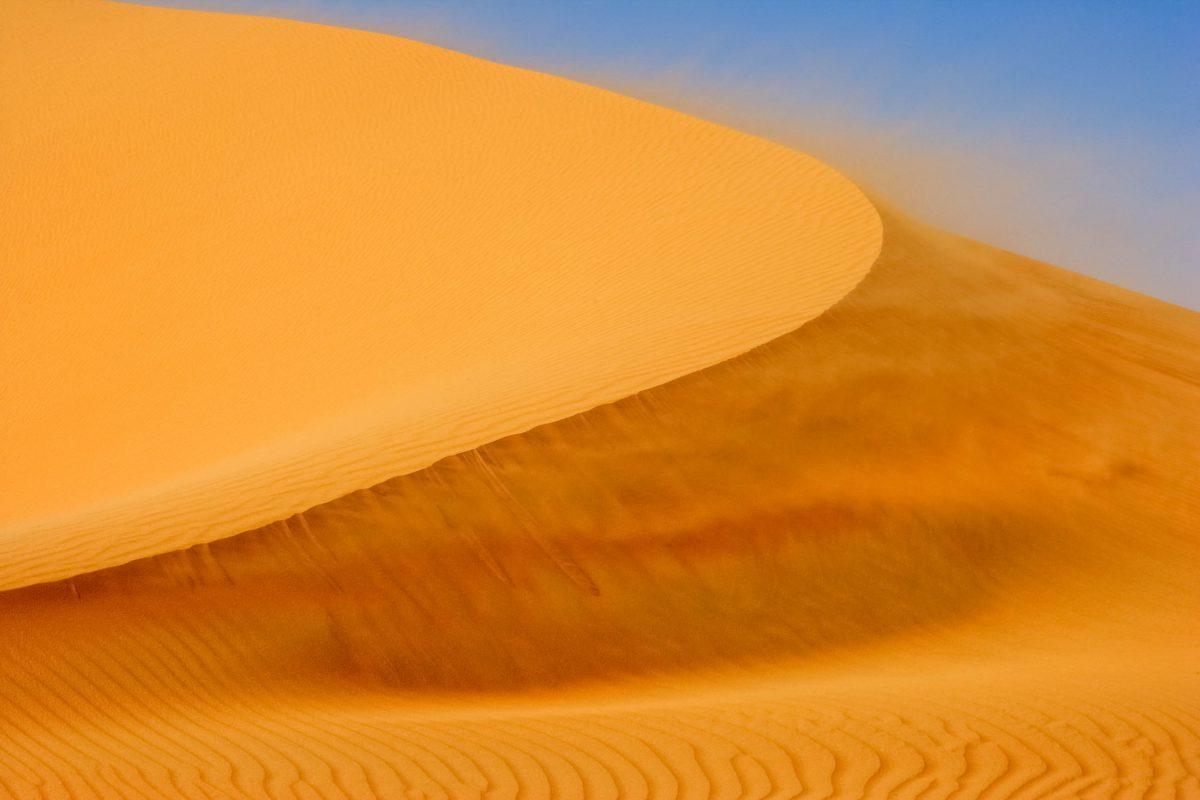 Die gigantische Moreeb-Düne gilt als größte Sanddüne der Rub al-Khali, auch Leeres Viertel genannt, Oman - © David Steele / Shutterstock