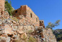 Die verlassenen Lehmhäuser im Wadi bani Habib werden nach und nach von wiederstandsfähigen Pflanzen überwuchert, Oman - © FRASHO / franks-travelbox