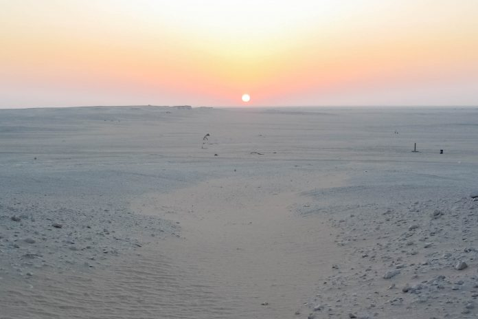 Sonnenuntergang in der Jiddat al Harasis zwischen Nizwa und Salalah, Oman - © FRASHO / franks-travelbox