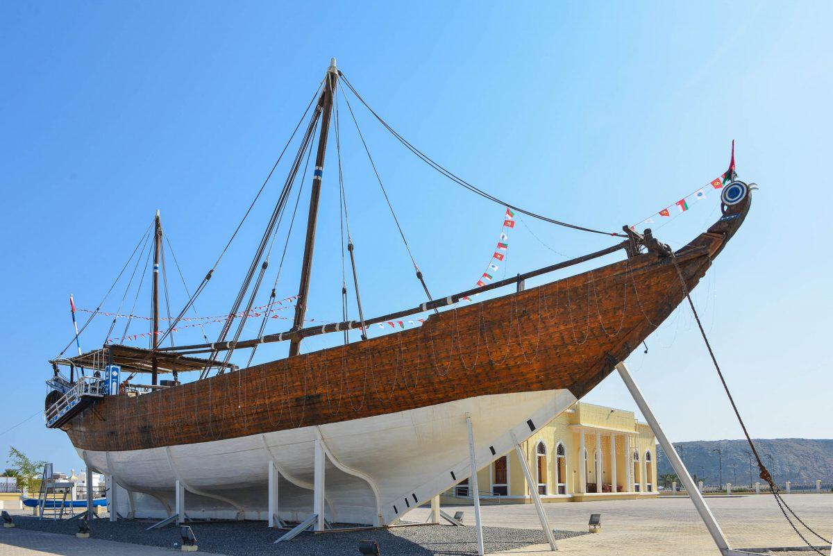 Das Highlight im Dhau-Museum von Sur ist die eindrucksvolle Fatah al-Khair aus 1920, Oman - © FRASHO / franks-travelbox
