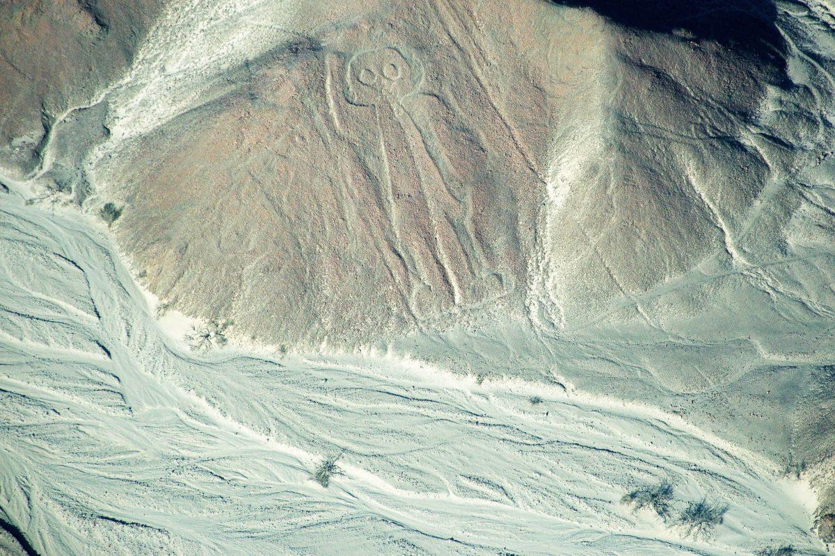 Entdeckt wurden die faszinierenden Geoglyphen in der Nazca-Ebene erst 1924, als die ersten Fluglinien über die Ebene führten, Peru - © flog / franks-travelbox
