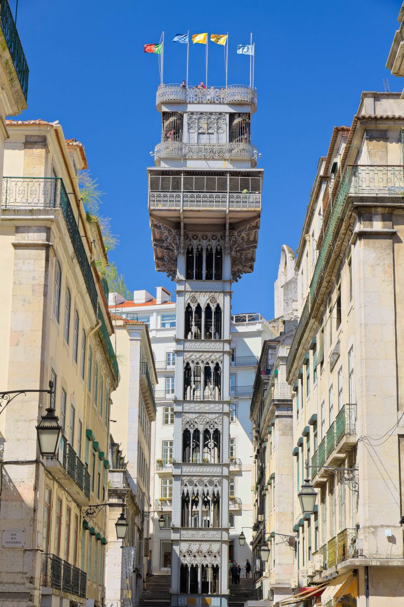 Der Elevador de Santa Justa wurde im Jahr 1902 errichtet, von seiner Aussichtsplattform hat man einen spektakulären Blick auf Lissabon, Portugal - © mlehmann78 / Fotolia