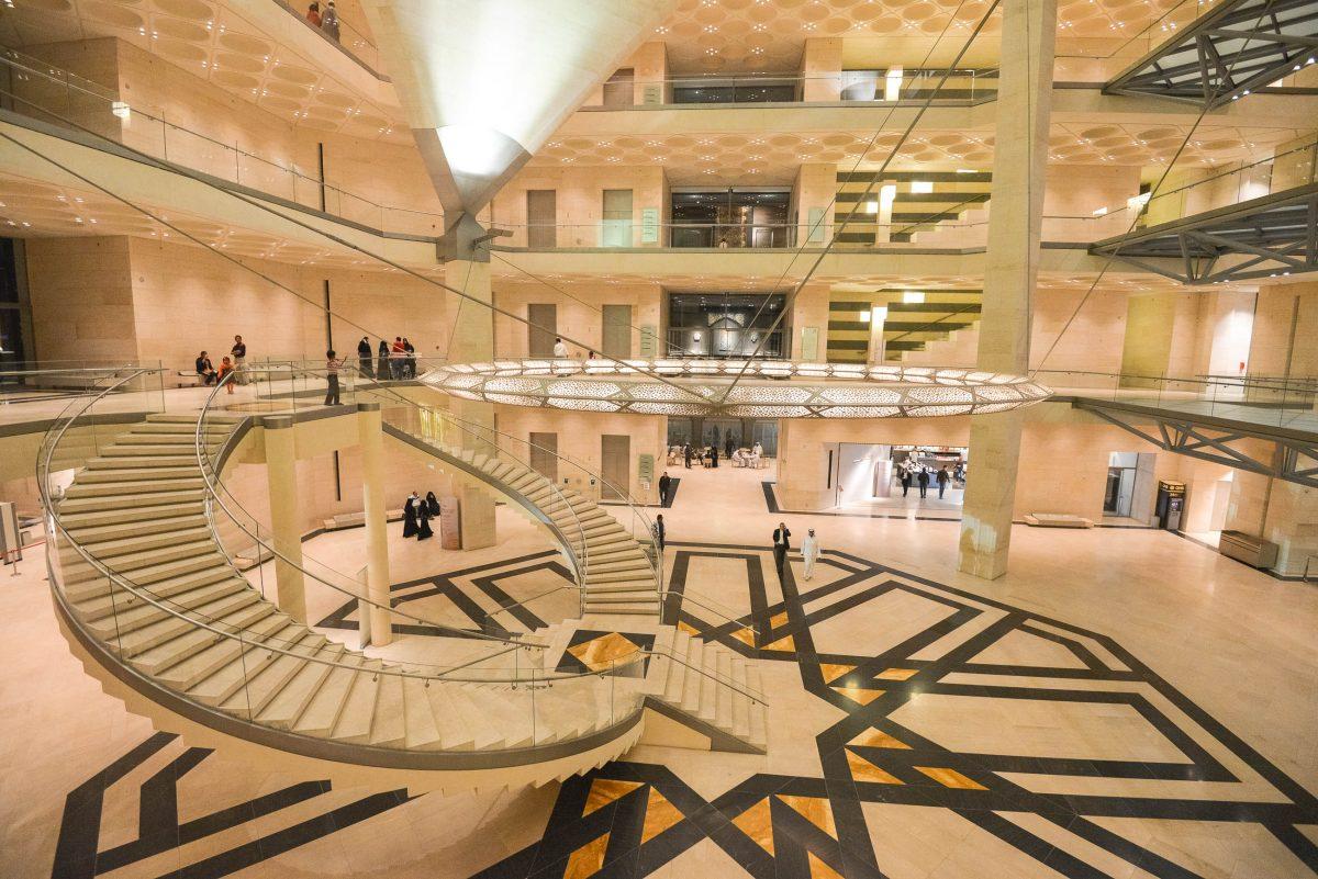 Das Interieur des Museums für Islamische Kunst ist schlicht, modern und dennoch ergreifend schön, Doha, Katar/Qatar - © FRASHO / franks-travelbox