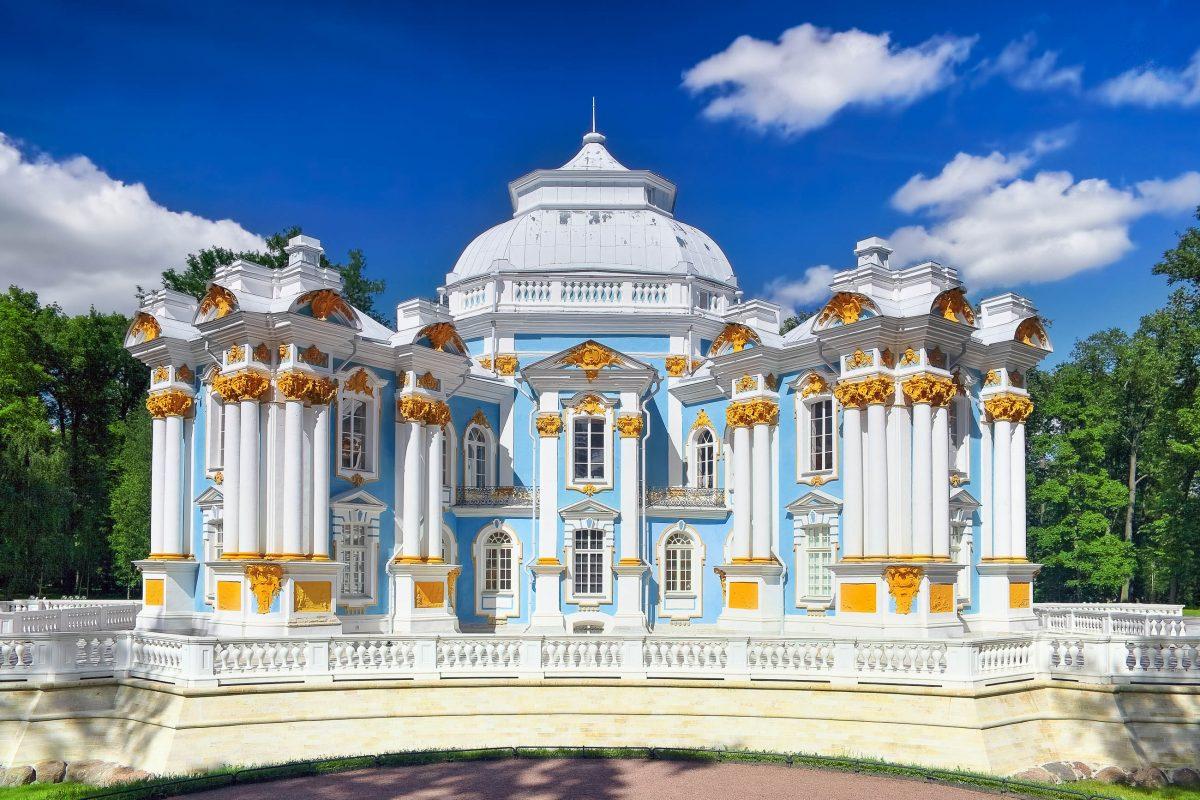 Der Pavilion Hermitage in der Anlage des Katharinenpalasts in Puschkin, Russland - © Vitas / Fotolia