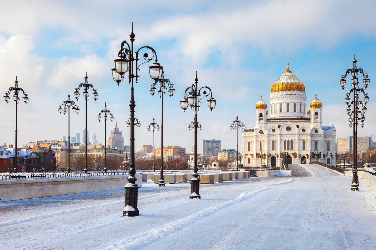 Die gewaltige Christ-Erlöser-Kathedrale in Moskau ist das weltweit höchste orthodoxe Gotteshaus, Russland - © Chamille White / Shutterstock