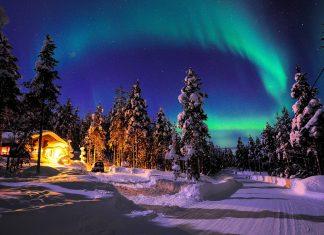 Nordlichter über Lappland im Norden von Schweden - © Richard Cavalleri / Shutterstock