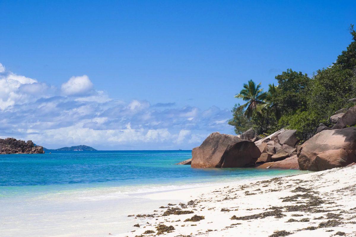 Der Anse Matelot auf Praslin, Seychellen, liegt relativ abgeschieden und präsentiert sich oft vollkommen menschenleer - © Christina Henningstad / Shutterstock