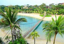 Landschaft auf der INsel Sentosa, Singapur - © leungchopan / Shutterstock