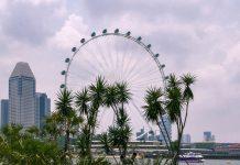 Auf 165 Metern Höhe am höchsten Punkt des Singapore Flyers fühlt man sich in etwa, als würde man aus dem 42. Stockwerk eines Hochhauses blicken, Singapur - © ezk / franks-travelbox