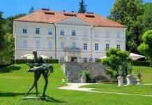 Das Tivoli Schloss in Ljubljanas Stadtpark wurde im 17. Jahrhundert vom österreichischen Adeligen und Feldmarschall Joseph Radetzky errichtet, Slowenien - © Pablo Debat / Shutterstock