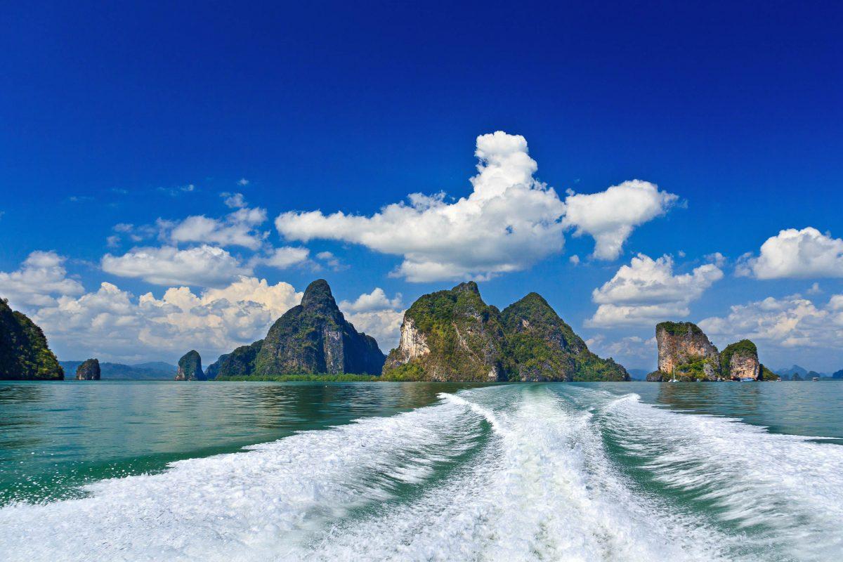 Thailand Meer Phang Nga Bay Felsen Wandtattoo Wandsticker Wandaufkleber R0380