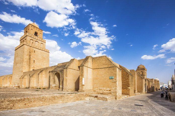 Tunesien Karte Welt.Grosse Moschee Von Kairouan Tunesien Franks Travelbox