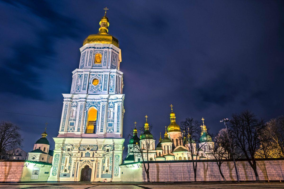 In der Sophienkathedrale in Kiew wurden Könige gekrönt und bestattet, Staatsgäste empfangen und die erste Bibliothek der Stadt eingerichtet, Ukraine - © srgktk / Shutterstock