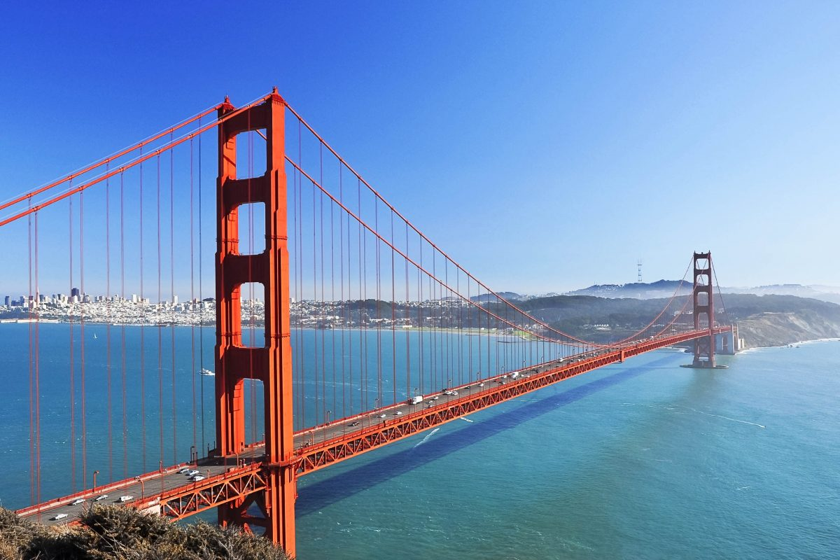 golden gate bridge in san francisco usa franks travelbox. Black Bedroom Furniture Sets. Home Design Ideas