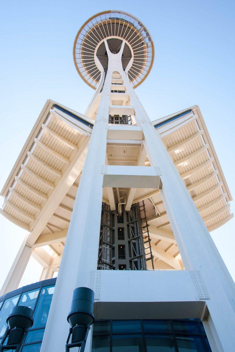 Die Space Needle, heute das Wahrzeichen von Seattle, wurde in den Jahren 1961-62 anlässlich der damals in Seattle, Washington stattfindenden Weltausstellung erbaut, USA - © James Camel / franks-travelbox