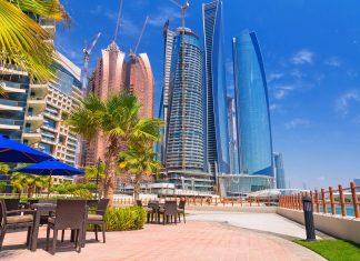 Die fünf Türme der Etihad Towers in Abu Dhabi, VAE, sind zwischen 217 und 305 Metern hoch - © Patryk Kosmider / Shutterstock