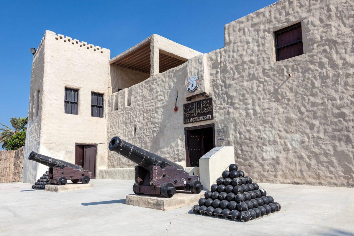 Das Fort aus dem 1. Jahrhundert war einst der Wohnsitz des amtierenden Herrschers von Umm al-Quwain, VAE - © Philip Lange / Shutterstock