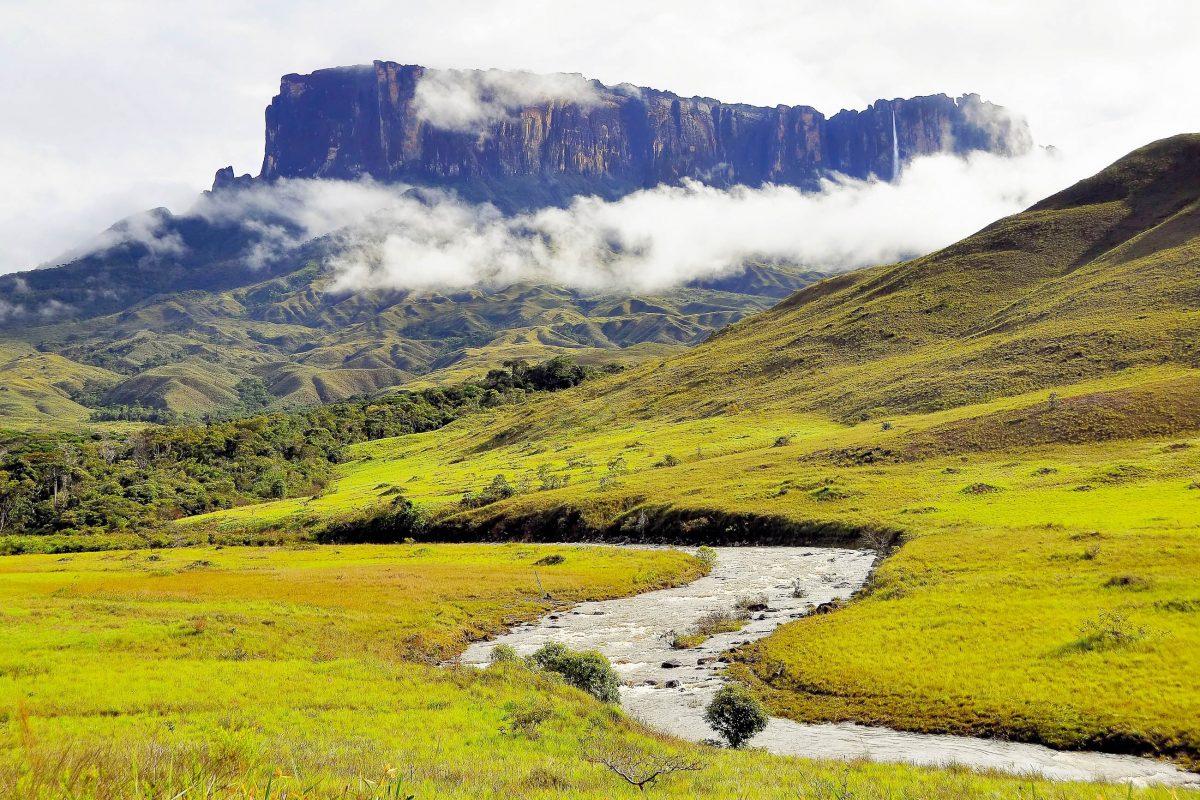 Blick auf den Mount Roraima an der Grenze zwischen Brasilien, Venezuela und Guyana - © Harald Toepfer / Shutterstock