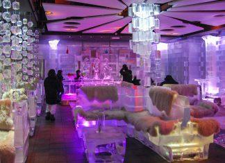 Als eine der besten Ice Lounges der Welt sorgt die stylische Chillout Ice Bar in Dubai für coole Drinks in cooler Umgebung, VAE - © Patrik Dietrich / Shutterstock