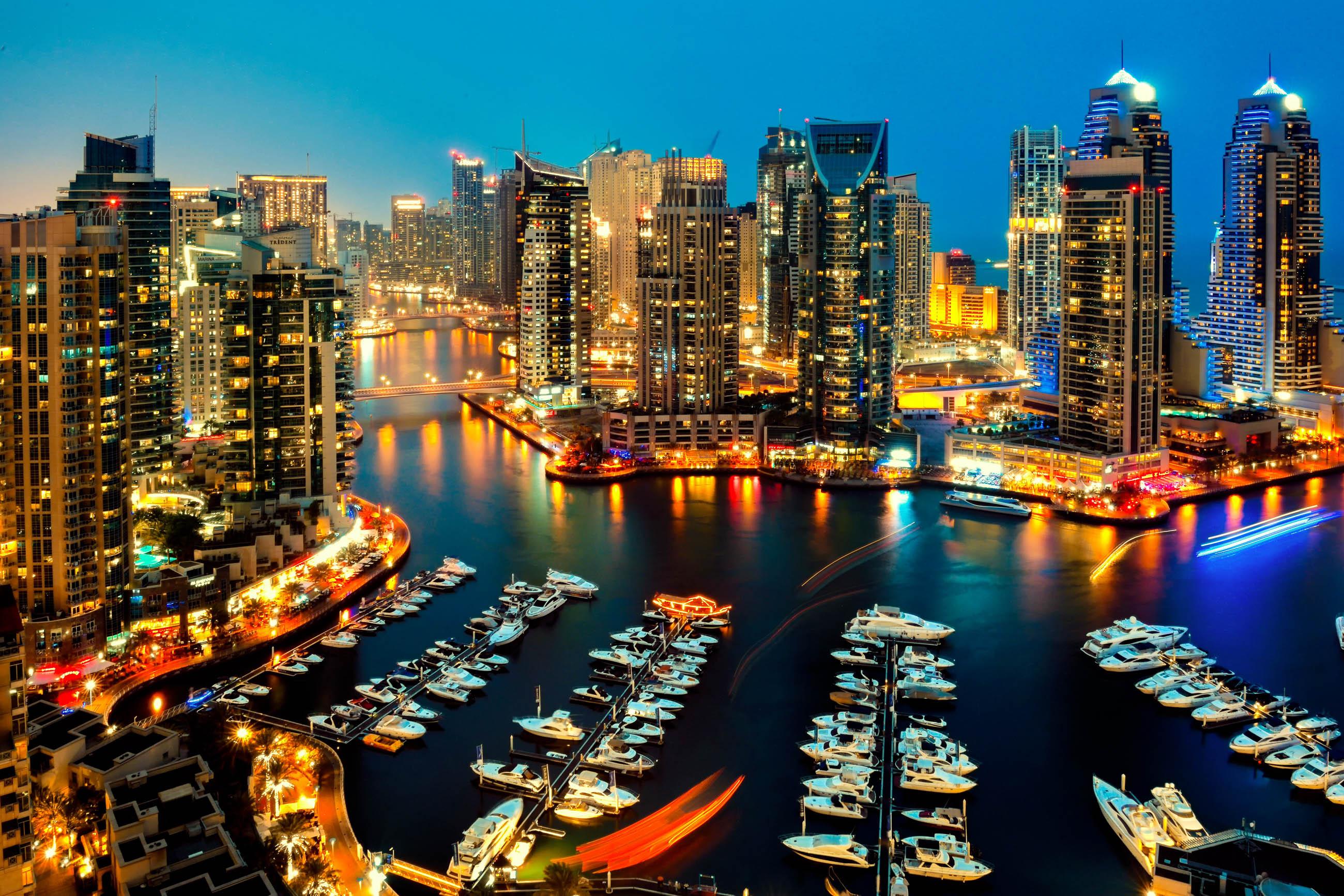 Dubai Marina In Dubai Vae Vereinigte Arabische Emirate