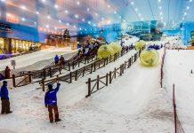 Mit Pisten, Liften, Halfpipe und Snow-Park ist die Ski Dubai-Halle eine der beliebtesten Sehenswürdigkeiten der Stadt, VAE - © S-F / Shutterstock