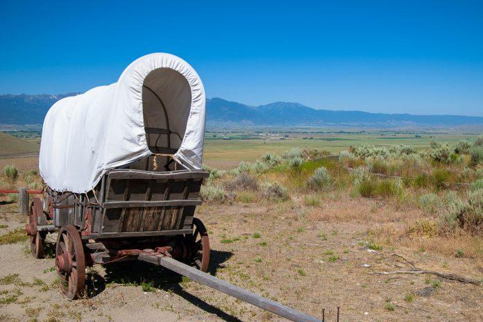 Im Oregon Trail Interpretive Center wird man in die Zeit um 1850 zurückversetzt, als die weißen Pioniere auf dem Oregon Trail durch Nordamerika zogen, um unbekanntes Land zu besiedeln, Oregon, USA - © James Camel / franks-travelbox