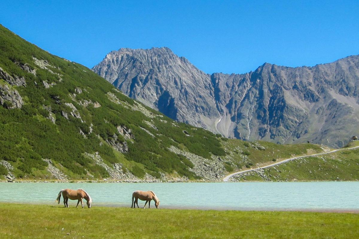 Der idyllische Rifflsee ist Ausgangspunkt zahlreicher Wanderwege in den Ötztaler Alpen, Österreich - © FRASHO / franks-travelbox