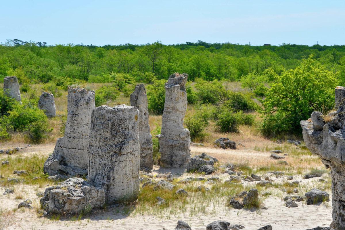 An der so genannten Dklitasch-Gruppe im Osten von Bulgarien stehen über 300 Steinsäulen der Pobiti Kamani auf einer Fläche von 850 mal 120 Metern - © FRASHO / franks-travelbox