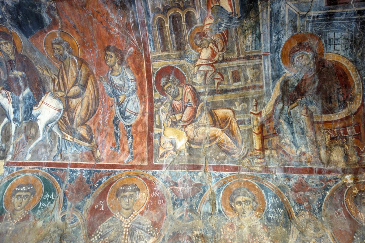 Das Südschiff der Panagia i Kera Kirche auf Kreta, Griechenland, entstand im 14. Jahrhundert und ist der Hl. Anna geweiht - © FRASHO / franks-travelbox