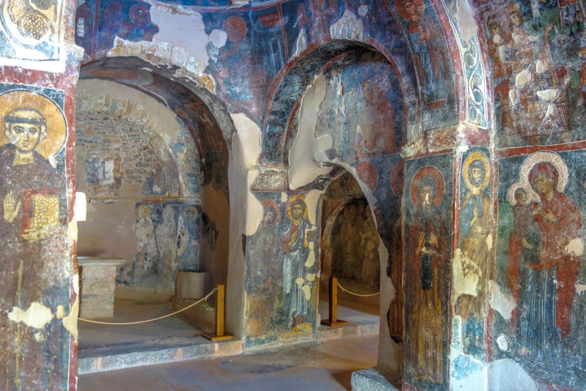 In der Panagia i Kera Kirche auf Kreta, Griechenland, alle Stile der kretischen Freskenmalkunst vertreten - © FRASHO / franks-travelbox