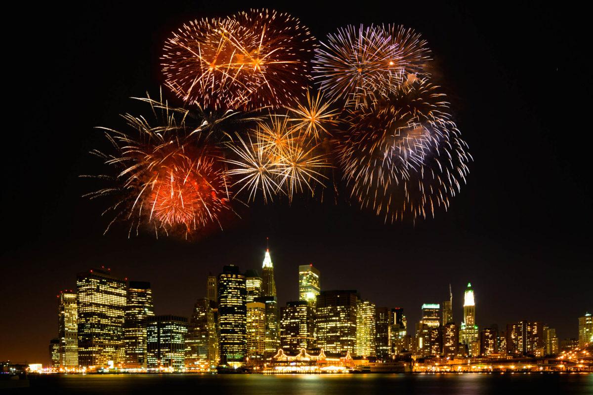 New York Feuerwerk