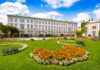 Das Barockschloss Mirabell in der österreichischen Stadt Salzburg wurde Anfang des 17. Jahrhunderts als Geschenk des Fürsterzbischofes an seine heimliche Geliebte errichtet, Österreich - © Jakob Radlgruber / Fotolia
