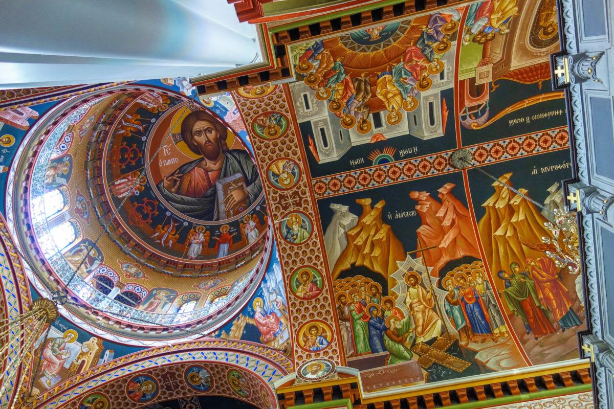 Die typisch byzantinischen Fresken in der Agias Minas Kathedrale in Heraklion auf Kreta, Griechenland, zeigen überwiegend Szenen aus dem Alten und Neuen Testament - © FRASHO / franks-travelbox
