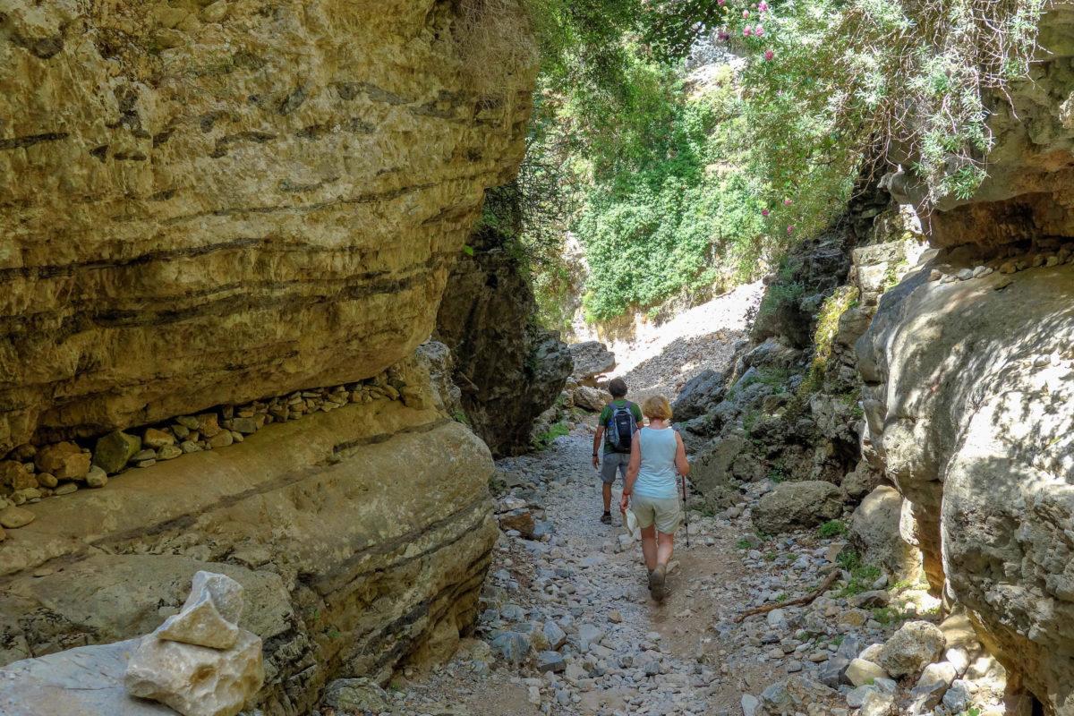 Auch im Sommer ist die Wanderung durch die Imbros-Schlucht auf Kreta, Griechenland, im Schatten der Bäume oder Steilwände angenehm - © FRASHO / franks-travelbox