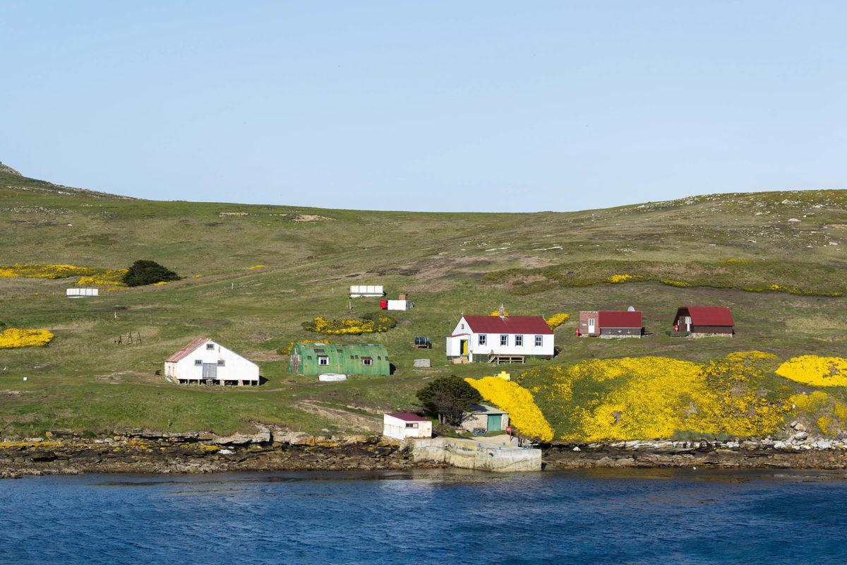 Wer nicht in der Hauptstadt Stanley wohnt, lebt meist in kleinsten Ansiedlungen und Einzelgehöften auf den Falklandinseln, Großbritannien - © Tom / stock.adobe.com