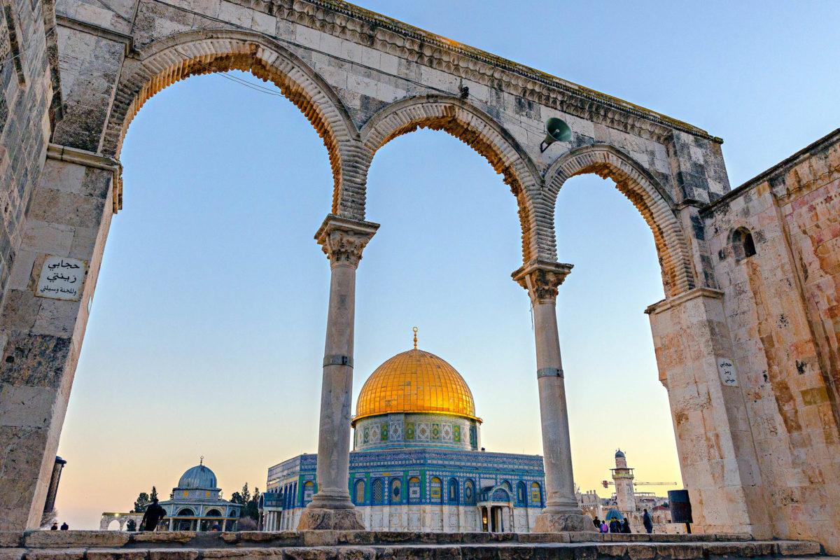 Der Felsendom ist gemeinsam mit der al Aqsa-Moschee und der Klagemauer das wichtigste Gebäude auf dem Tempelberg in Jerusalem, Israel - © Sevde Sevan / Shutterstock