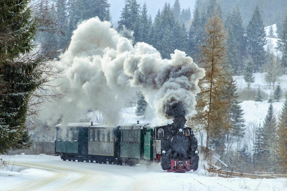 Eisenbahnfans können im Frühjahr, Sommer und Herbst eine Reise auf den Dampfzügen der Wassertalbahn unternehmen, Rumänien - © Raul Jichici / Shutterstock