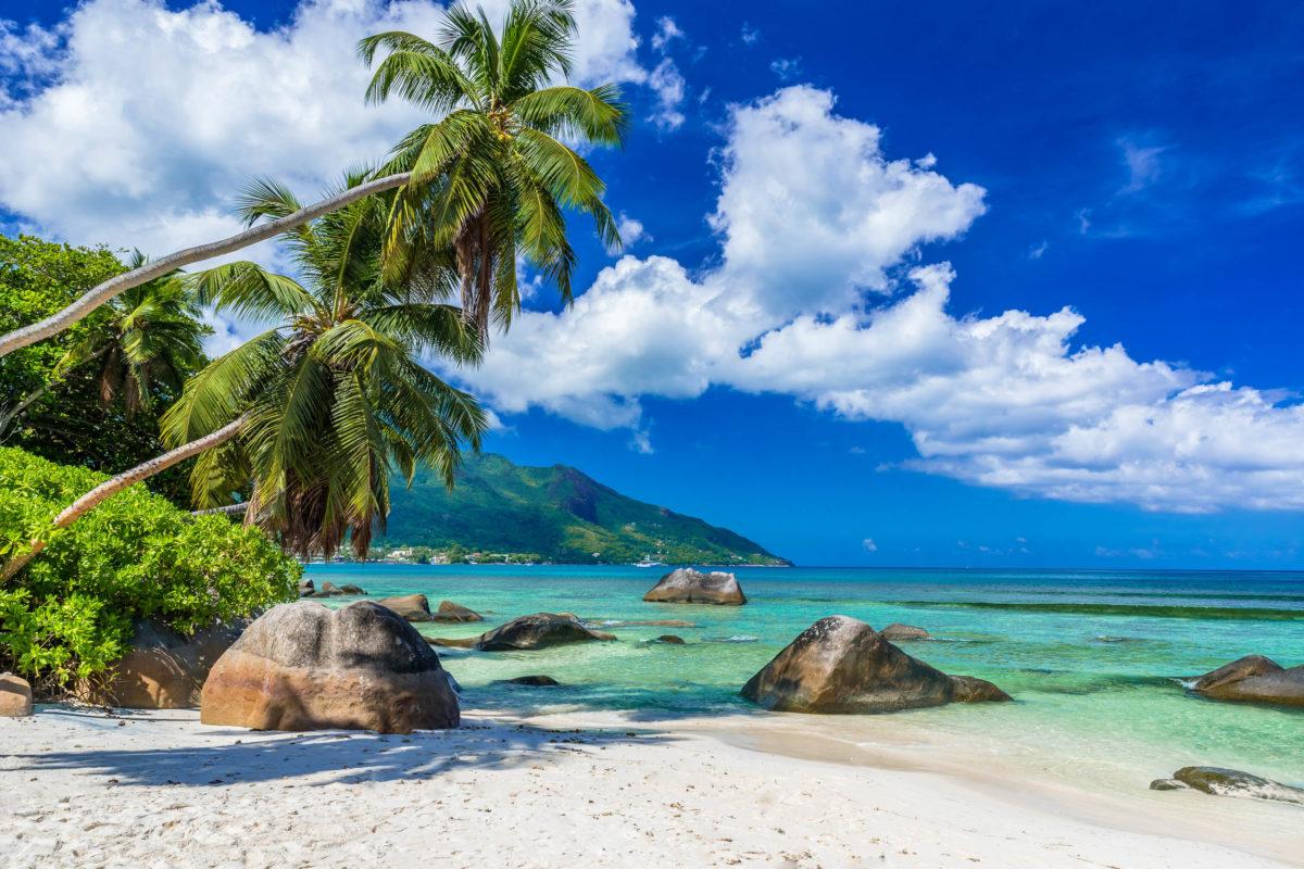 Der Beau Vallon ist sowohl bei Einheimischen als auch bei Touristen der beliebteste Strand auf Mahé, Seychellen - © Simon Dannhauer / Shutterstock