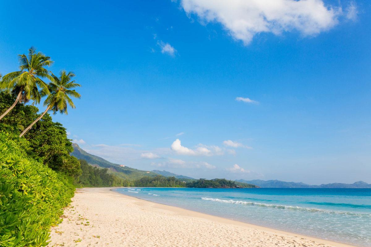 Der Grand Anse auf Mahé, Seychellen, macht seinem Namen alle Ehre, ist jedoch aufgrund der Unterwasserströmungen nicht zum Schwimmen geeignet - © 18042011 / Shutterstock