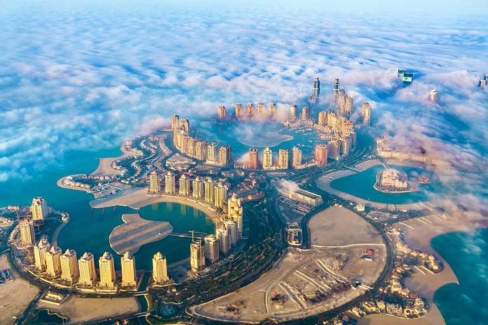 Luftaufnahme der Insel